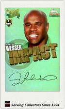 2010 Select NRL Champions Impact Foil Signature IS51 Rhys Wesser (Rabbitohs)