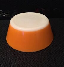 "Vintage FEDERAL HEAT PROOF 5"" Orange BOWL Tangerine Orange & White Milk Glass"