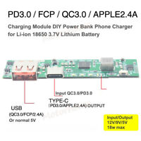 18W QC3.0 USB Quick Charge  Lithium Li-ion 18650 Battery  Module DIY Power Bank