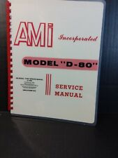 "Ami Model ""D-80"" Jukebox Service Manual & Parts Catalog (Amr Deluxe Book)"