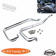 Chrome Twin Rail Saddlebag Guard Kits For Harley-Davidson H-D Touring '09-'13
