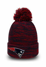 New Era NFL Bobble New England Patriots Marble Knit Sideline On Field Beanie Hat
