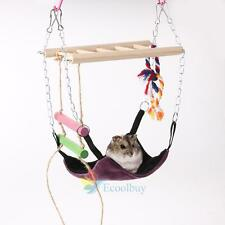 Pet Hammock Rat Hamster Parrot Hanging Bed Climbing House Ladder Swing Cage Toy
