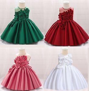 Princess Newborn Baby Girl Party Tutu Dress Pageant Wedding Birthday Dresses ZG9