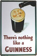 """There is nothing like a Guinness Retro Metal Sign 8"""" x 12"""""""