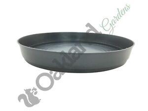 40cm Round Grey Saucer Deep 30 35 45 50 Litre Plant Pot Drip Water Tray