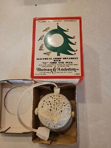 Vintage Electrical Chirping Ball Christmas Ornament Bird Sounds