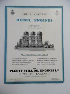 1931 Plenty-Still Oil Engine Co Diesel Marine Motor Catalog Brochure Vintage UK