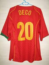 #20 DECO PORTUGAL 2004-06 HOME SHIRT NIKE SOCCER SIZE XL