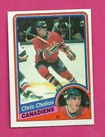 1984-85 OPC # 259 CANADIENS CHRIS CHELIOS  ROOKIE NRMT+ CARD (INV# D3813)
