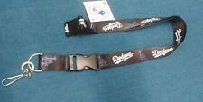 MLB Los Angeles Dodgers Team Lanyard - Black (Blue&White Logo) with Clip *NEW*