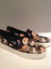 Sam Edelman Becker Slip On Sneakers Flats Multi Black Floral US 10 Retails $110.