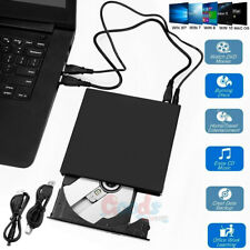 External Usb 3.0 Dvd Rw Cd Writer Drive Burner Reader Player For Laptop Pc Xp Os