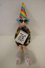 Hallmark Maxine Doll Shelf Sitter Decorative Figure with Plush Birthday Hat, New