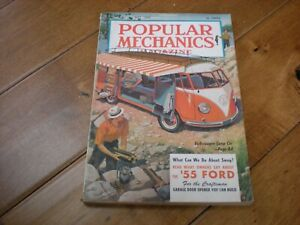 Popular Mechanics (July 1955) What Can We Do About Smog? '55 Ford