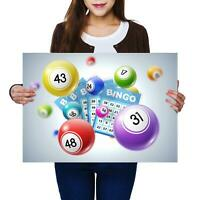 A2 | Awesome Bingo Game Fun Size A2 Poster Print Photo Art Kids Boys Gift #2124