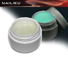"Profi UV Glitter Gel "" Glow in the Dark "" Transparent 5ml / Nail Gel / Color Gel"