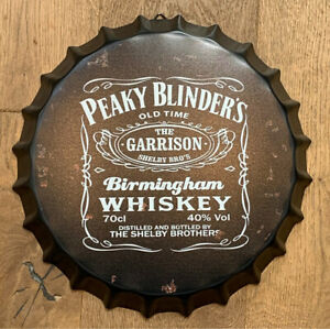 PEAKY BLINDERS Metal 35cm Bottle Top Sign 1 WORK DAY FAST DELIVERY TOMMY SHELBY