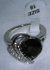 Heart design ring purple crystal size 7 = 18 mm. New