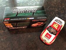 Action Ryan Reed & Jack Roush 2014 Lilly Diabetes autographed auto NASCAR 1/24