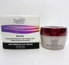 Aura Vie Regen Eye Cream Anti-Wrinkle Eyes Collagen Oil-Free NEW AuraVie  .5oz