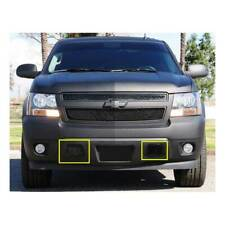 T-Rex Black 2pc Bumper Grille Covers Tow Hook for Chevrolet Suburban/Tahoe 07-14