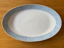 Serving Plate Porcelain Arzberg Bastdekor Blue Heinrich Löffelhardt MCM Large