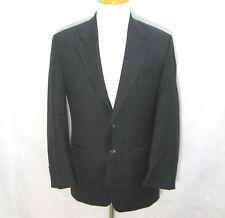 RALPH LAUREN Mens Gray Striped 2 Button Wool Blazer Sport Coat Jacket (Size 36R)