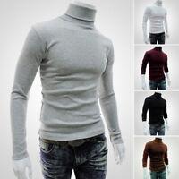 ELEGANTE Muscle Invierno Hombre Entallado cálido cuello vuelto Jersey Suéter
