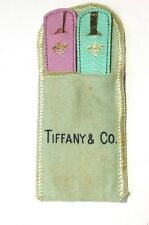 Rare Tiffany & Co. Solid 14K Yellow Gold His & Hers Toothpick and Sewing Needle