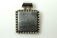 925 Sterling Silver Beaded Square Pendant 19.9 g (PEN6797)