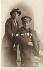 Early  ROYAL FIELD ARTILLERY Soldier & Wife   Studio  Photo Postcard