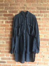 Vintage Katherine Hamnett Men's Shirt, Sz Large Oversized UK Silk Nu Romantic