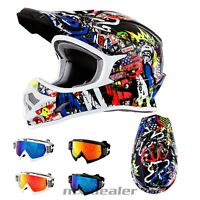 O'Neal 3series RANCID multi Helm Crosshelm MX Motocross Cross HP7 Brille Enduro