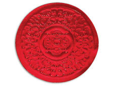 25 Medallion Holiday Red Round Foil SEALS Cards Cello bags Labels Envelopes