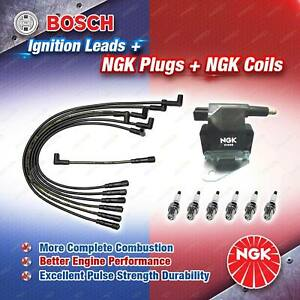 NGK Spark Plugs Coil + Bosch Leads Kit for Ford Falcon EB ED XR6 3.9L 4.0L 6Cyl