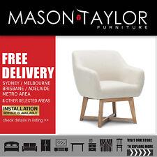 Mason Taylor Artiss Fabric Tub Lounge Armchair - Beige Local Store