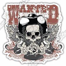 "Wanted Wild West Cowboy Gun Skull Gift Idea Car Bumper Vinyl Sticker Decal 4""X5"""