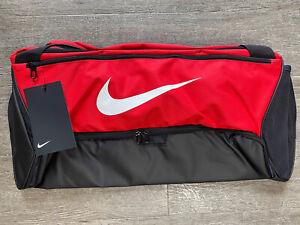 Nike Brasilia Medium Training Duffel Duffle Bag BA5977 657 Red/Black