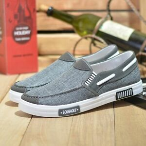 Breathable Comfortable Ultralight Canvas Shoes For Men Loafers Casual Sneakers