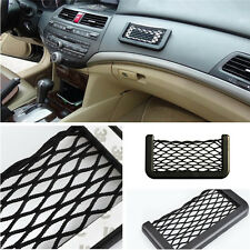 Universal Car 7.5in Storage Mesh Net Resilient String Phone Bag Holder Organizer