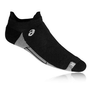 Asics Unisex Road Ped Double Tab Running Socks Black Sports Breathable