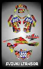 SUZUKI LTR 450 QUADRACER  SEMI CUSTOM GRAPHICS KIT BOMBE