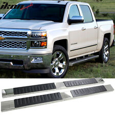 Fits 07-17 Silverado Sierra 1500 Crew Cab 6inch Nerf Bar Running Boards Chrome