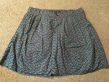 GAP Blue Green Pink Floral Design Casual Above Knee Length Skirt womens 8