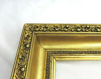 "ANTIQUE FITS 12"" X 19""  GOLD GILT ORNATE WOOD PICTURE FRAME FINE ART VICTORIAN"