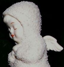 """Department 56 Snowbabies Kneeling Angel """"Now I Lay Me Down.."""" night prayers NIB"""