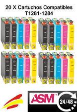 20x cartuchos compatibles non oem para Epson Stylus S22 SX125 SX130 SX230