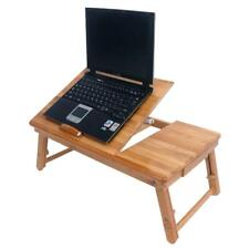 Portable Laptop Desk Indoor Outdoor Lap Tray Bed Adjustable Table Stand Bamboo