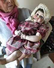 Antique Bahr & Proschild Character Bisque Head Toddler Doll, C 1900